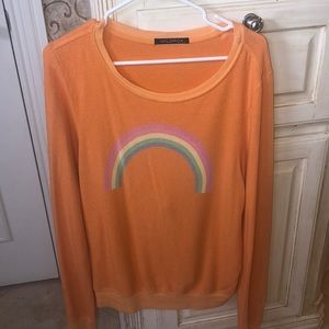 Orange Rainbow Wildfox Sweatshirt Size L